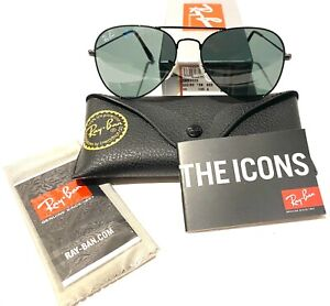 Ray-Ban Aviator RB3025 002/62 Black Classic Lens with Black Frame 55mm