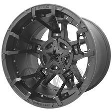 """4-XD827 Rockstar 3 20x10 5x5""""/5x5.5"""" -24mm Matte Black/Gloss Split Wheels Rims"""