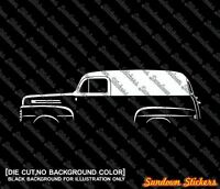 C107 classic coupe for Mercedes SLC 2x car silhouette stickers