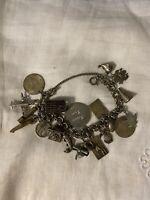 Vtg Sterling (19) Charm Bracelet