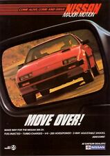 """1985 red Nissan 300 ZX 300ZX photo """"Move Over"""" print ad"""