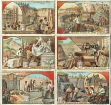Chromo Liebig Sang. 745 BEL L'Uso delle Pietre ANNO 1903