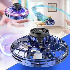 Mini Drone Gyro UFO With Led Light Hand Induction Pocket Spinner Electronic Dron