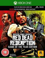 RED DEAD REDEMPTION GAME OF THE YEAR EDITION - XBOX ONE & 360 - NEW & SEALED