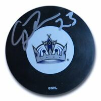 Craig Johnson Signed Autographed NHL Puck Los Angeles Kings Silver Ink w/COA