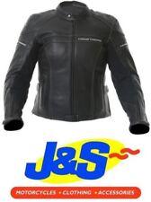 Blousons noirs en cuir pour motocyclette femme