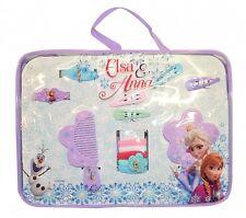 Disney Frozen Anna Elsa 11pc Hair Accessory Set Brush Mirror Slides Scrunchies