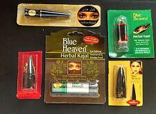 """5 mixed BLUE HEAVEN herbal KAJAL"""" Kohl Eye Liner VITAMIN E Natural belly dance!!"""