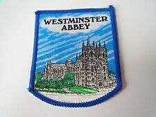 "London Souvenir ""Westminster Abbey"" Patch England Church Travel Applique"