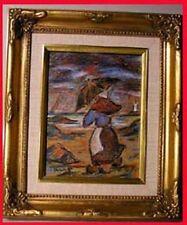 Peintures du XXe siècle et contemporaines sur panneau en scène de genre