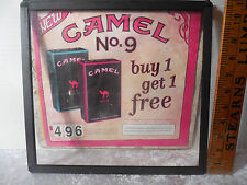 "Cardboard Advertising Sign Display Camel Cigarettes ""Pleasure to Burn"