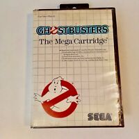 Ghostbusters Sega Master Mega Cartridge In Box Vintage Video Game