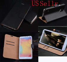 Genuine Luxury Real Leather Flip Wallet Case Cover For Samsung Galaxy Note 4
