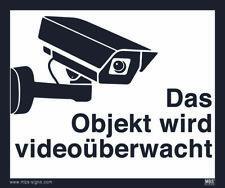 Videoüberwachung Aufkleber DSVGO Hinweisschild Warnaufkleber Kamera Größe12x10cm