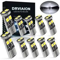 2Pcs T10 5 LED SMD Car Error Free Canbus Xenon White W5W 501 Side Light Bulbs