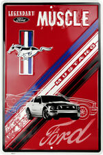 """Ford Mustang Legendary Muscle Red Large 12"""" x 18"""" Metal Garage Novelty Sign"""