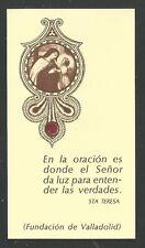Holy card relics antique de Santa Teresa reliquia santino image pieuse