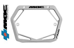 Mac One BMX Number Plate Mini/Cruiser Gray