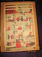1937 -3 Weeks Dick Tracy Xl-Full Page Sunday Newspaper Color Comic Strips