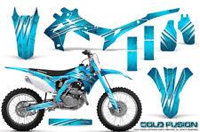 HONDA CRF 450 CRF450 2013-2015 GRAPHICS KIT CREATORX DECALS COLD FUSION BLUE ICE