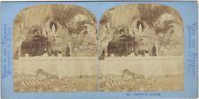 Grotte de Lourdes Photo Lamy Stereo Vintage Albumine ca 1870