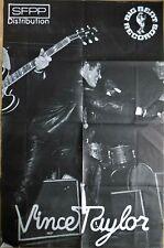 RARE affiche vintage originale VINCE TAYLOR BIG BEAT RECORDS - 119 x 78 cm