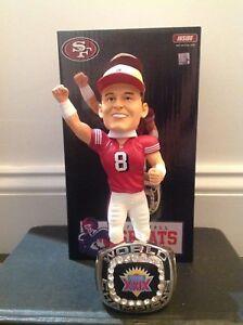 Steve Young San Francisco 49ers Super Bowl XXIX Champions Ring Base Bobblehead