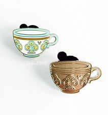 Disney 2015 Mad Tea Party Teal Club Teacup Pin Hidden Mickey Wave B Authentic