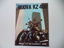 advertising Pubblicità 1974 MOTO KAWASAKI KZ 400