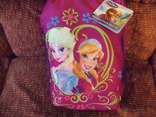 Disney Frozen Elsa Anna Throw  Blanket in a Drawstring Tote NEW HTF