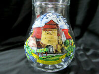 German 1986 Small Glass Beer Pitcher 0.5 Osterwandertage Sommerach Germany