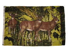 3x5 Redneck Camouflage Camo Hunting Three Deer Flag 3'x5' Banner Grommets