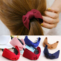 Women Hair Claw Big Bows Hairpins Headband Hair Clips Hair Accessories BDAU