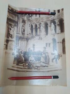 Fine XIX Foto Carlo Naya Foto Albumina Venezia Cortile Palazzo Ducale 68C