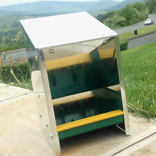 GALVANISED POULTRY HOPPER  CHICKEN FEEDER 2.5kg