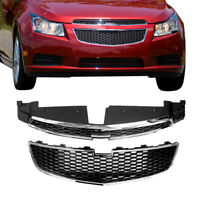 For CHEVY CRUZE 2011-2014 12 Front Bumper Upper & Lower Grille PAIR SET of 2 PCS
