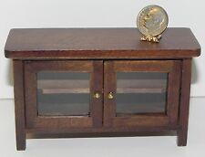 Dollhouse Miniature Stand TV Walnut Wood CLA10919 1:12 Scale