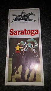 american horserace card 1974 saratoga 13th day august12th
