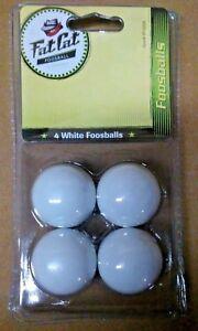 4 White Foosball Balls Fat Cat w