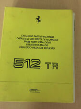 Ferrari 512 TR Spare Parts Catalogue 1992