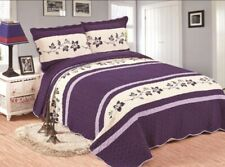 3pc King Size Quilt Bedspread Coverlet - Reversible, Lightweight.