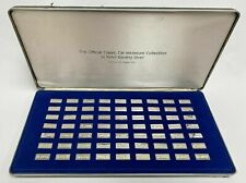 "Vintage Franklin Mint ""The Official Classic Car Mini Collection Sterling Set"