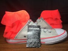 Converse Sneakers High Top Frill Women Rare Breast Cancer Month Sz 5 All Star