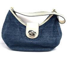 Tula Womens Tote Handbag Blue Medium Size Zip Closure