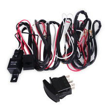 Car LED Light Bar Spot Rocker ON/OFF Switch + Relay Fuse Wiring Harness Loom Kit