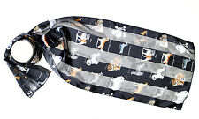 Dogs Print Scarf Silky Satin Chiffon Stripe for Dog Lovers by Kongle