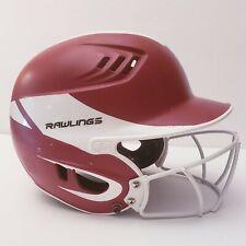Rawlings Velo Away 2-Tone Matte Batting Helmet (R16A2S) Maroon/White Faceguard