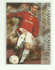 55c2b8fc8 1997 FUTERA Manchester United ERIC CANTONA Binder Edition Card BE1 FUTERA