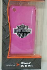 NEW Harley-Davidson fuse phone case for iPhone 3G and 3GS, pink #92
