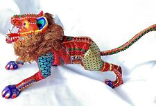 Lion Alebrije Hand Painted Oaxacan Wood Carving Folk Art Oaxaca Mexico